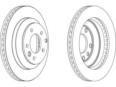 Zadnji kočioni diskovi S71-1518 - Volkswagen Touareg 02-
