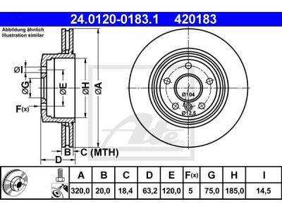 Zadnji zavorni disk 24.0120-0183.1 - BMW Serije 5 03-10