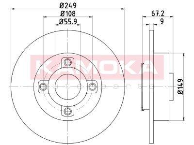 Zadnji zavorni diski 1031137 - Peugeot 207 09-12