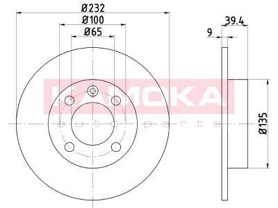 Zadnji zavorni diski 103146 - Seat Cordoba 93-02