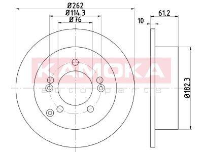 Zadnji zavorni diski 103162 - Hyundai Sonata 05-10