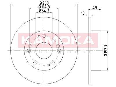 Zadnji zavorni diski 103163 -  Honda Accord 02-12