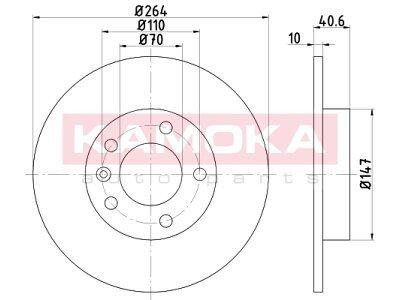 Zadnji zavorni diski 103170 - Opel Corsa D 06-14