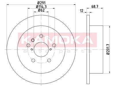 Zadnji zavorni diski 103188 - Toyota Avensis Verso 01- 09