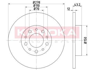 Zadnji zavorni diski 103191 - Alfa Romeo 159 05-12