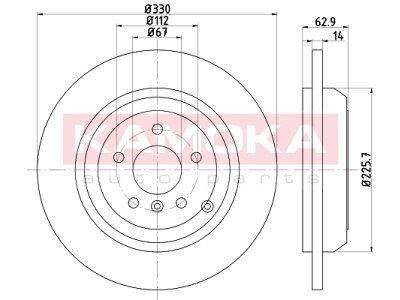 Zadnji zavorni diski 103200 - Mercedes-Benz Razred M W164 05-11
