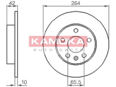 Zadnji zavorni diski 1032088 - Opel Astra G 98-09