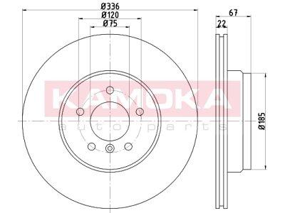 Zadnji zavorni diski 103230 - BMW Serije 3 04-13