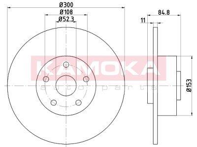Zadnji zavorni diski 1032772 - Renault Espace 02-