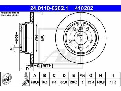Zadnji zavorni diski 24.0110-0202.1 - BMW Serije 3 (E36) 90-99