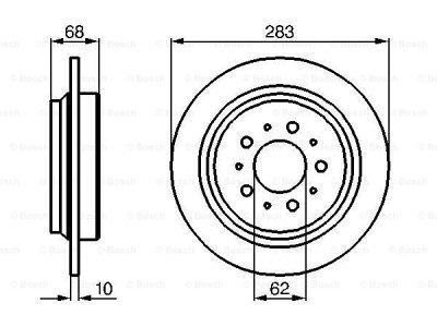 Zadnji zavorni diski BS0986478445 - Volvo S70 97-00