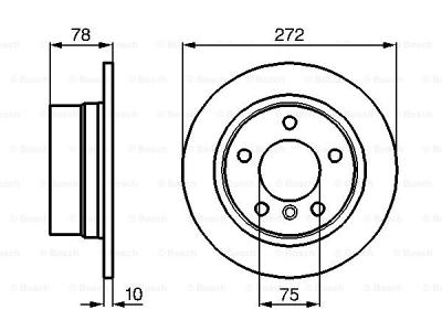 Zadnji zavorni diski BS0986478641 - BMW Serije 3 90-99