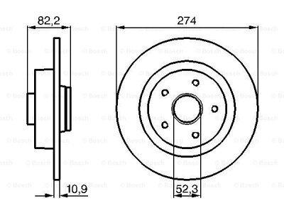 Zadnji zavorni diski BS0986478744 - Renault Laguna 01-07