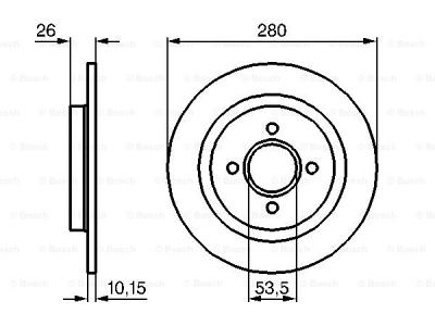 Zadnji zavorni diski BS0986479049 - Ford Focus 98-08