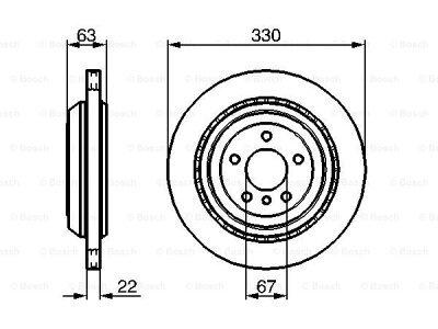 Zadnji zavorni diski BS0986479285 - Mercedes-Benz Razred GL 06-12