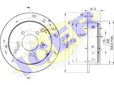 Zadnji zavorni diski IEBD2907 - Hyundai Trajet 00-08
