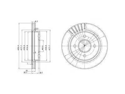 Zadnji zavorni diski IEBD6786 - Ford