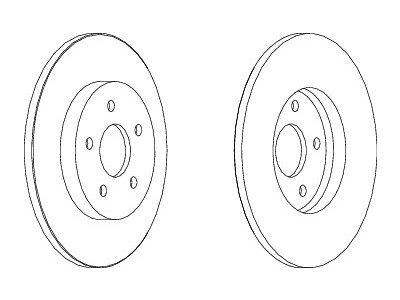 Zadnji zavorni diski S71-1098S - Ford Mondeo 00-07