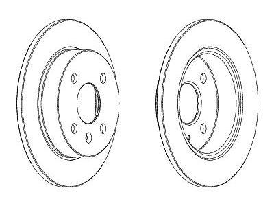 Zadnji zavorni diski S71-1106S - Opel Astra G 98-09