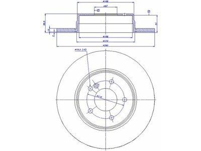 Zadnji zavorni diski S71-1136 - Mercedes