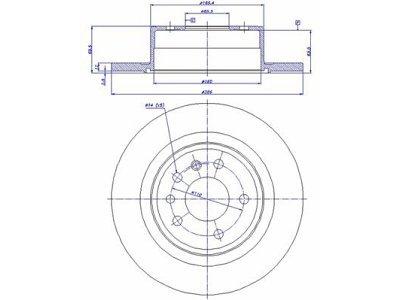Zadnji zavorni diski S71-1141 - Opel