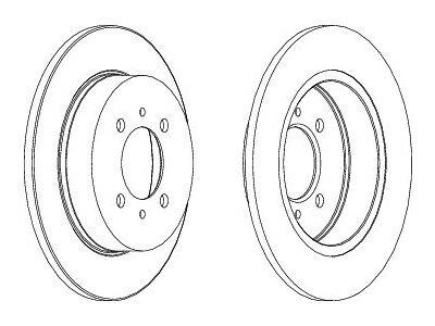 Zadnji zavorni diski S71-1305 - Nissan Almera 95-00