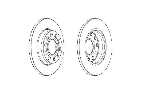 Zadnji zavorni diski S71-1319 - Audi A4 00-07