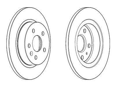 Zadnji zavorni diski S71-1362 - Opel Astra J 09-