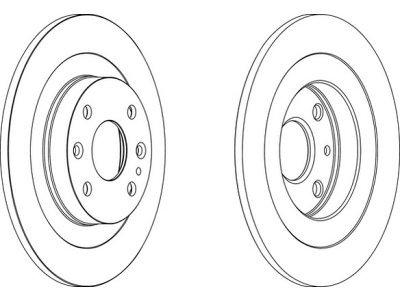 Zadnji zavorni diski S71-1422- Mazda 323F 89-95