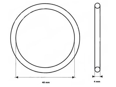 Zaptivka termostata UOR05 - 48x4 mm