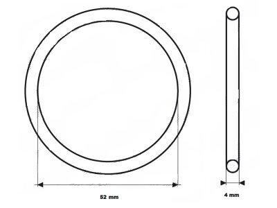Zaptivka termostata UOR08- 52x4 mm