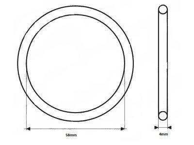 Zaptivka termostata UOR10 -  58 x 4mm
