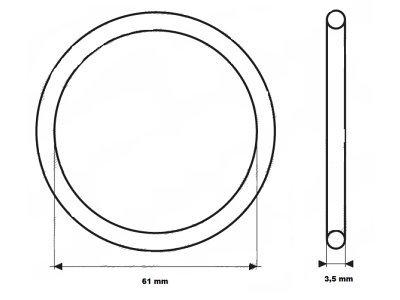 Zaptivka termostata UOR11 - 61x3,5 mm