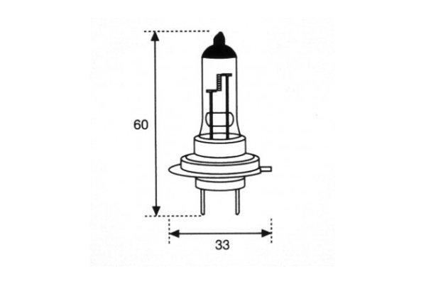 Žarnica 12V H7 55 W + 50 % svetilnosti