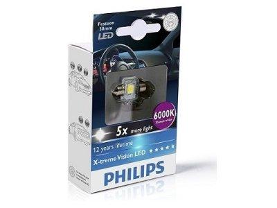 Žarnica C5W LED Philips X-TremeVision (30 mm) 6000K - PH129416000KX1