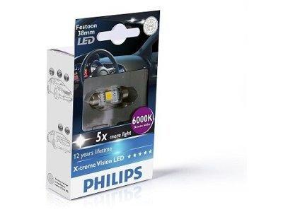 Žarnica C5W LED Philips X-TremeVision (38 mm) 6000K - PH128596000KX1