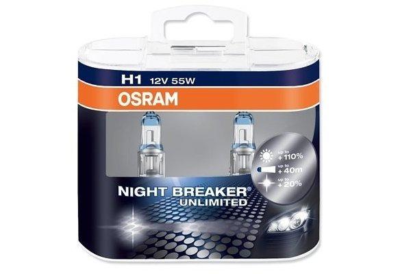 Žarnica H1 55W - 12V, Night Breaker Unlimited. 90% več svetilnosti