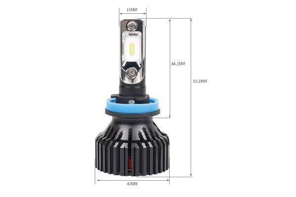 Žarnica H11 LED, 6500K, 60W, 9-32V, 2 kosa, 8 LED, PREMIUM