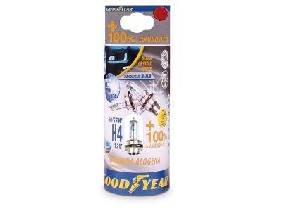 Žarnica H4 12V-55/60W Goodyear kristal, 2 kosa