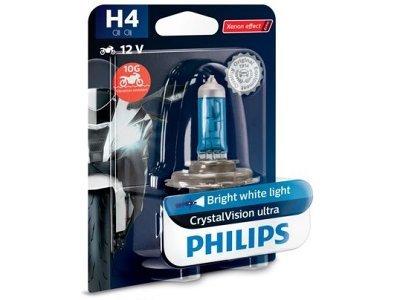 Žarnica H4 Philips Crystal Vision Ultra Moto - PH12342CVUBW