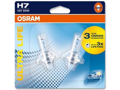 Žarnica H7 12V/55W PX26D Ultralife, OSRAM