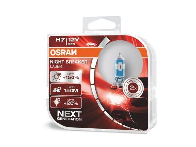 Žarnica H7 OSRAM NIGHT BREAKER LASER H7, +150%, 2 kosa