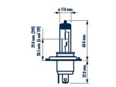 Žarnica Narva H4 12V/60/55W +50% RangePower - NAR48861