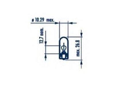 Žarnica Narva W5W 12V/5W - NAR17177SET (10 kosov)