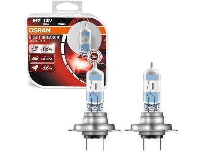 Žarnica NIGHT BREAKER UNLIMITED, Osram, H7, +110%, +40m, 2 kosa