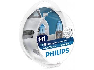Žarnica Philips H1 WhiteVision Xenon Effect - PH12258WHVSM (2 kosa)