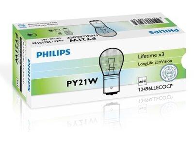 Žarnica PY21W Philips LongLife EcoVersion - PH12496LLECOCP (rumena)