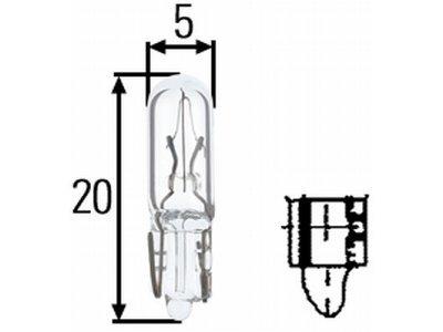 Žarnica W1, 2W SRL