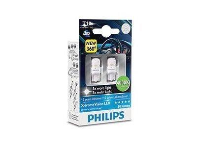 Žarnica W5W LED Philips X-tremeVision 4000K - PH127994000KX2 (2 kosa)
