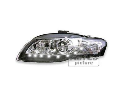 Žaromet Audi A4 (B7) 04-, DRL, črni , H7, Bi